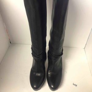 Cole Haan Air Women's Black Leather Long Boots 5.5